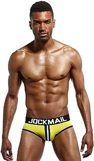 Jockmail Men Open Back Underwear Men Underwear Brief Cotton Backless Gay Men Brief