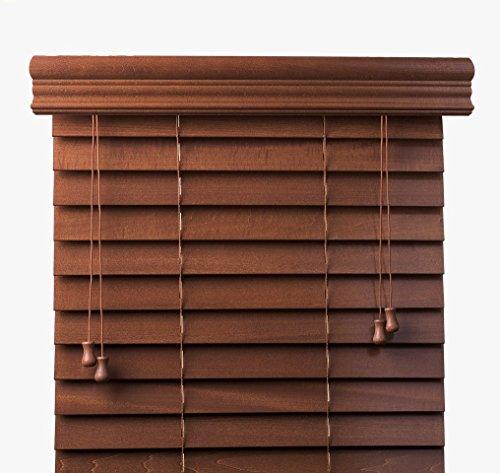 Bravada Select, Superior 2' Custom Real Wood Blinds (Bourbon, 24' Wide x 36' Length)