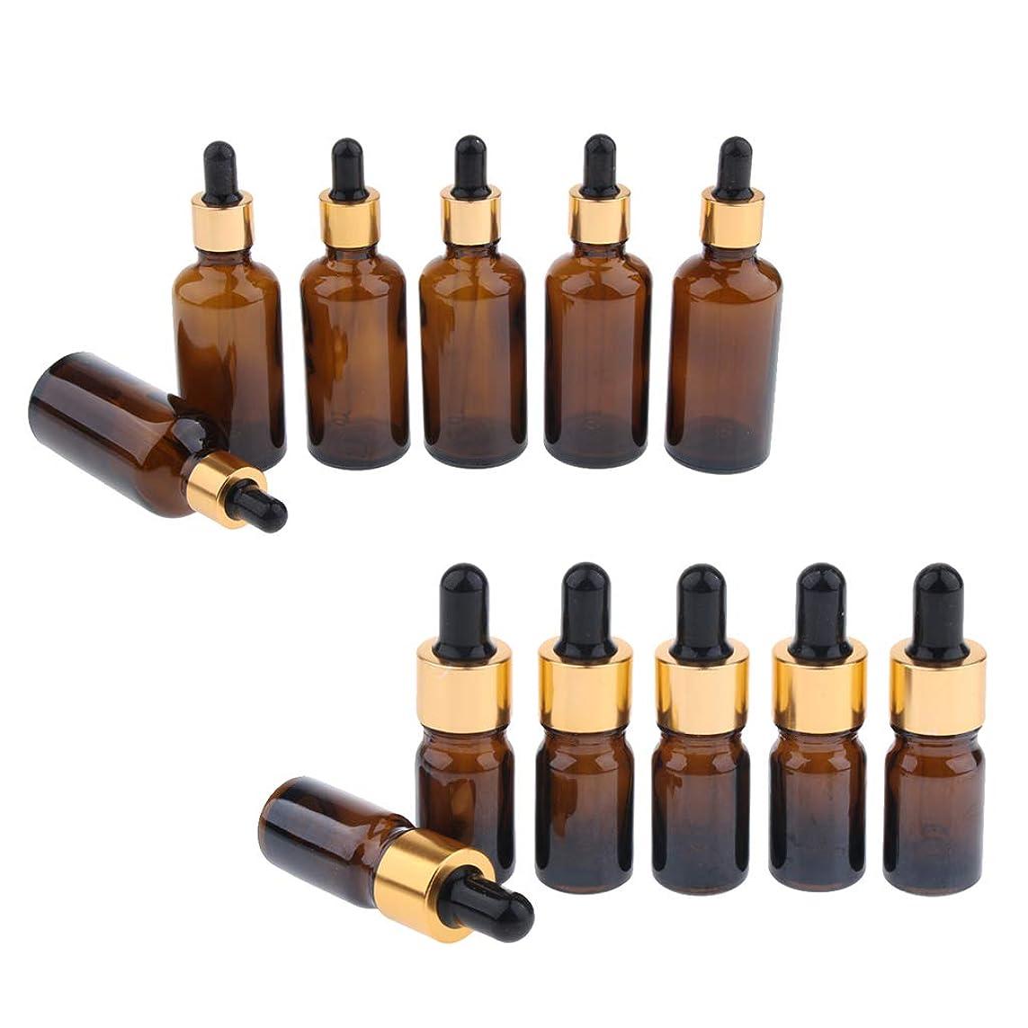 人口一人で緩めるP Prettyia ドロッパーボトル エッセンシャルオイル 化粧品 液体 ガラス瓶 詰め替え可 スポイトボトル 12個入