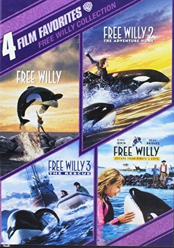4 Film Favorites: Free Willy 1-4 (4FF)(90th Anv Stkr/DVD)