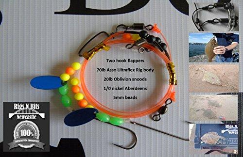 Sea fishing Rig x 10 - Two hook flatty flapper shore rigs - Dab, Plaice