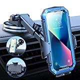 VICSEED [Don't Shake or Fall] Car Phone Holder Mount, Versatile Cell Phone Holder for Car Strong Suction Long Arm Car Phone Mount for Dashboard Windshield Air Vent for iPhone 13 All Phone Thick Case