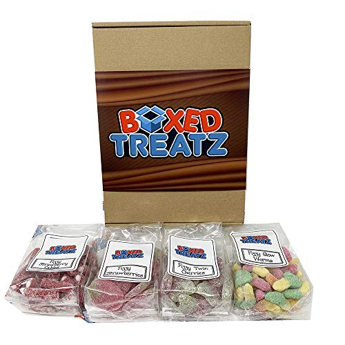 Sweet Mix Gift Box Fizzy Mix Bags Sweets Gift Box Chew Gift Box Sweet Fizzy Box Sweets Lovers Selection Gift Box of 4 Boxed Treatz