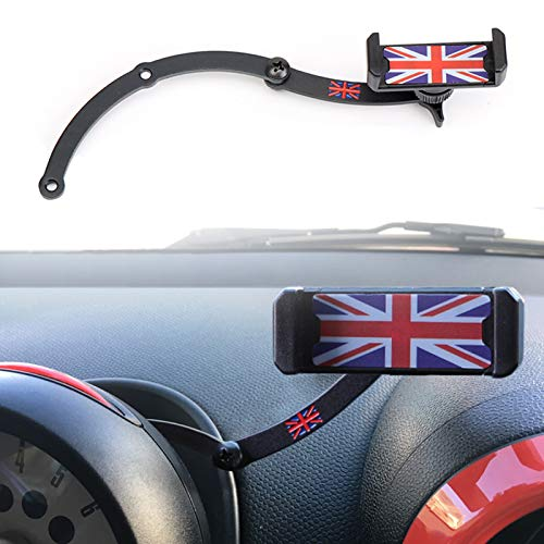 Mini Cooper Soporte para teléfono móvil, plegable Invisible 360 ° Rotación Coche Soporte para GPS para Mini Cooper R55 R56 R57 R60 R61 (Mini R)
