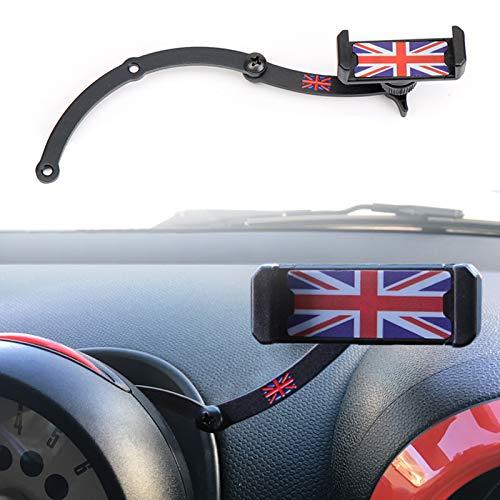 Mini Cooper Handyhalterung, Faltbar Unsichtbar 360°Drehung Autotelefon GPS Halterung für Mini Cooper R55 R56 R57 R60 R61 (MINI R)