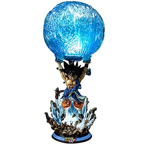ZEwe Dragón Bola Goku Vitality Bomb Gran Modelo Luminoso Anime Figura Decoración de Escritorio Muñeca Regalos Mejores Regalos for Adultos