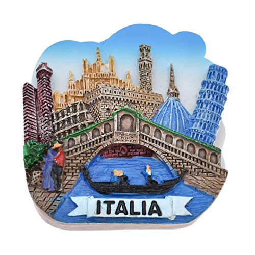 Kesheng Venecia Italia - Imán de resina 3D para nevera, juguete magnético para regalos, colección turística, 1 unidad