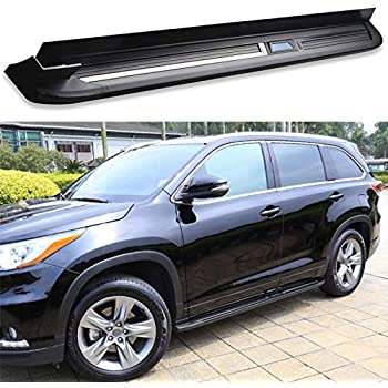 amazon com kingcher fit for toyota highlander kluger 2014 2019 aluminium running board side step nerf bar automotive kingcher fit for toyota highlander kluger 2014 2019 aluminium running board side step nerf bar
