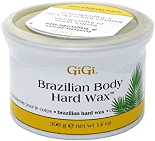 Gigi Tin Brazilian Body Hard Wax 14 Ounce (414ml) (6 Pack)