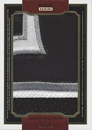 DUSTIN BROWN & JUSTIN WILLIAMS 2014-15 Panini Anthology Hockey DOUBLE COVERAGE (Jumbo Dual Jersey Patches) Los Angeles Kings Team Mates Rare Insert Collectible NHL Hockey Trading Card #38/49