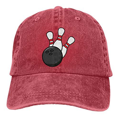 CVDGSAD Neue Bowlingkugel Bowlingkugeln Denim Red Unisex Premium Quality Verstellbarer Sportkappenhut