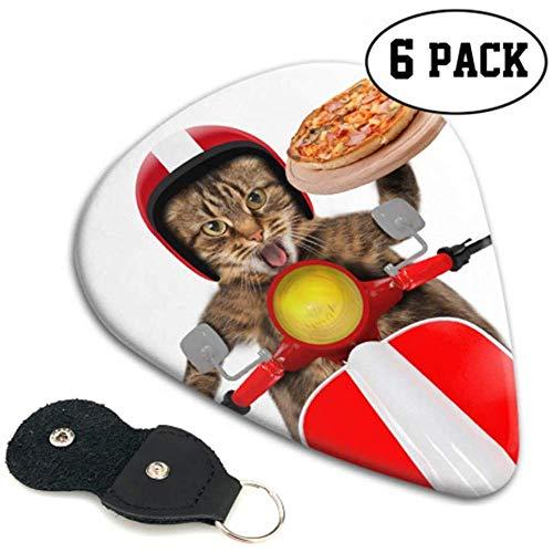 Kat verzenden Pizza Gitaar Picks Peuter Gitaar Picks 6 Pack Zware Elektrische Akoestische Gitaren