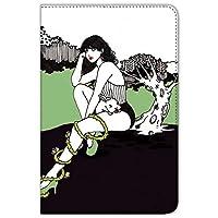 majocco iPad mini 1/2/3 ケース 手帳型 プリント手帳 野うさぎちゃんC (mj-008) カード収納 スタンド機能 WN-LC847795