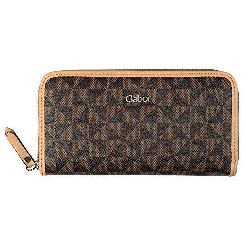 Gabor bags Geldbörse mit Reißverschluss Damen Barina, Braun (mixed), one size, Portemonnaie, Geldbörse Damen