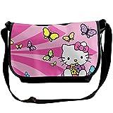 JONINOT Hello Cat Sacs à bandoulière Commute Messenger Bag Sacs de Travail Crossbody Satchel Cartable