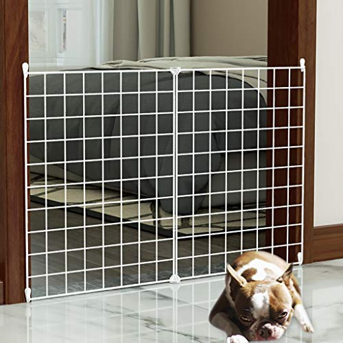 Baby/pet gate Pet Gates For Dogs No Drill, Retractable Baby Gate, Extends To 27' Wide, Pet Dog Gate For Doorways, Stairs, Hallways, Indoor/Outdoor-Splicing 2 Pieces. Free Installation