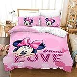 Juego De Cama Disney Mickey Minnie Mouse Temática 3 Piezas con Funda Nórdica...
