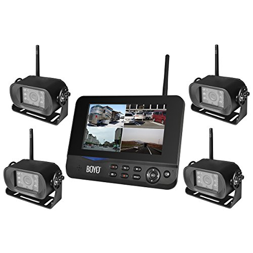 """BOYO VTC700RQ-4 - Digital Wireless 4 Camera DVR System with 7"""" Monitor for Car, Truck, SUV and Van (4-Channel System)"""