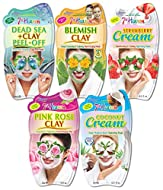 7th Heaven Hydrating Face Mask Pack with Dead Sea Clay, Blemish Clay, Strawberry Cream, Pink Rose Cl...