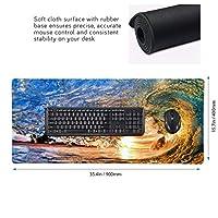 海浪 マウスパッド ゲーミングマウスパット デスクマット キーボードパッド 滑り止め 高級感 耐久性が良い デスクマットメ キーボード パッド おしゃれ ゲーム用(90cm*40cm)
