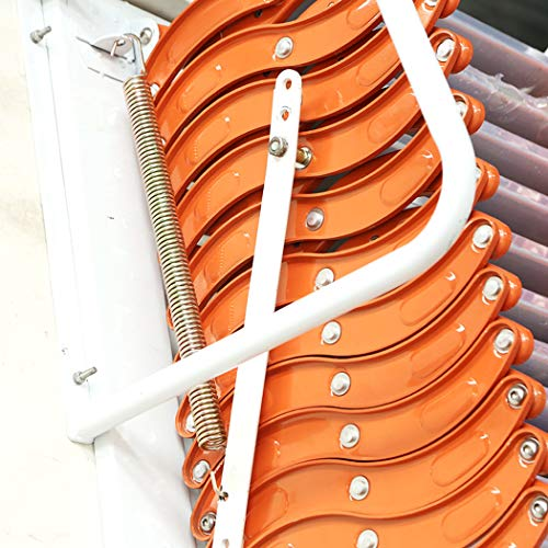 Heavy Duty Steel Metal Loft Wall Ladder Stairs Attic Folding Ladder Factory Wholesale (Carbon Steel 3M50)