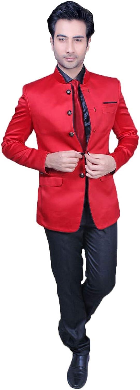 Indian Designer Partywear Traditional Ethnic Red Mens Jodhpuri Suit. MENS2484-2-46