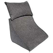 Formalind - Cojín de cuña con Forma Ergonómica y un Acogedor Cojín de sofá para Leer, Ver la Televisión y Relajarse (gris oscuro)