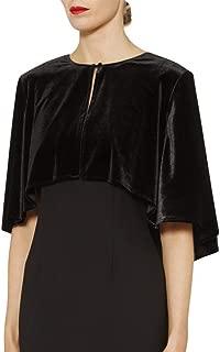 Velvet Shrug Wraps for Evening Party Plus Size Open Front Capes Cloaks by Lansitina