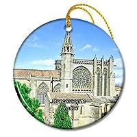カルカソンヌフランスサンナゼール教会クリスマスオーナメントセラミックシート旅行お土産ギフト