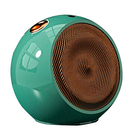 Elektrische Heizung Desktop klein Energiesparende Haushaltsheizung Desktop-Keramikheizung Doppelzweck Sicherheitsschutz 900/1500 W. Büro Schlafzimmer (Color : Green, Size : 220V)