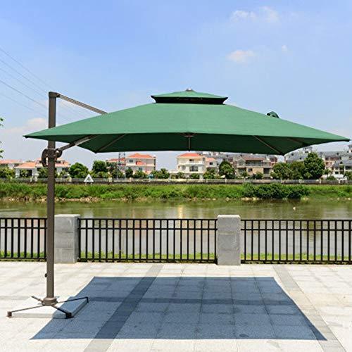Preisvergleich Produktbild Xytton 360 ° Drehung,  Kurbelsteuerung,  anthrazitfarbener Boden und Rahmen Ø300 cm,  UV-Schutz,  Gartenschirm,  Terrassenschirm,  Sonnenschirm,  Außenbalkon und Terrasse, Grün