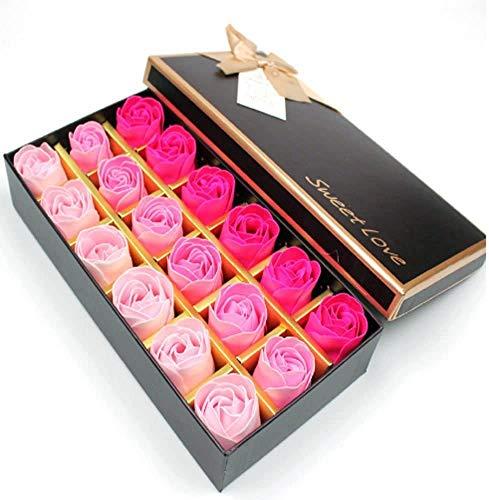 Rosas Artificiales Rosa Eterna/ Caja Regalo Rosas Roja para Aniversario, cumpleaños, Boda, día de San Valentín / 18 Piezas