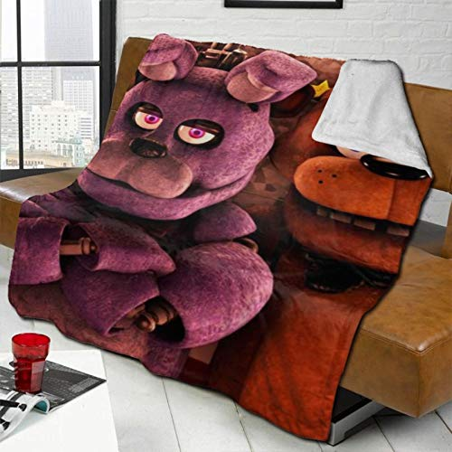 Myleiture Five-Nights-at-Freddys Soft Throw Blankets, Plush Fluffy Blanket Super Warm Cozy Sleeping Blankets for Sofa Couch Chair Dorm Winter/Autumn
