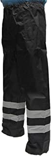 black hi vis waterproof trousers