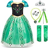 FUNNA Princess Costume for Toddler Girls Fancy Dress Green with...
