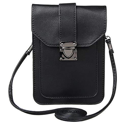 Xidan Damen Einzel Schultertasche Handtasche Stilvoll aus PU Leder für iPhone 6 7 8 Plus X, Samsung Note2 3 4 5 8, S5 S6 S7 Edge S8 S9 Plus, LG G3 G4 G5