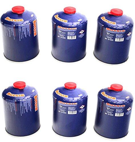 Envio 24h 6 X Butsir B-500 Cartucho de Gas 450 gr – bombona perforable con limitador de Fugas – Botella Camping Gas Chollo Promocion Precio Rebaja Casi Gratis Ofertas en Amazon