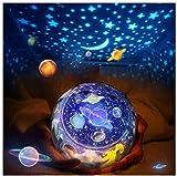 LED Luce Proiettore lampada per Bambino,360 Gradi Romantico Cielo stella Proiettore Lampada,Luce di Notte per Rilassarsi ed Addormentarsi,regalo per camera da letto,Natale, Compleanno