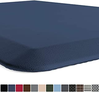 GORILLA GRIP Original Premium Anti-Fatigue Comfort Mat, Phthalate Free, Ships Flat, Ergonomically Engineered, Extra Support and Thick, Kitchen and Office Standing Desk, 32x20, Navy Blue