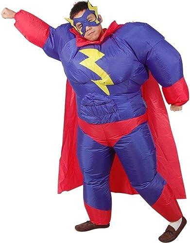 Ypyrhh BFaible Up Costume, Style de Piggyback HalFaibleeen Piggyback, Sumo Gonflable vêteHommests Gros Costume, Costume Robe de soirée de Fun Fun, Bleu