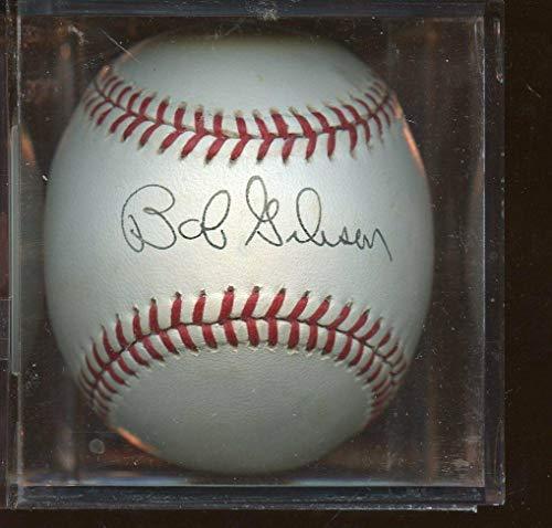 Bob Gibson Signed Baseball - Single Sweet Spot ONL White Hologram - Autographed Baseballs Bob Gibson Autographed Baseball