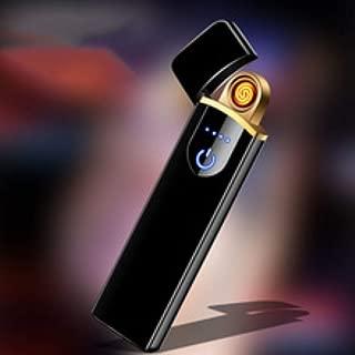 New Upgraded Lighter USB Rechargeable Electric Lighter Plasma Lighter Windproof Slim Portable Lighter with Battery Display Smart Fingerprint Sensor Double Side Ignition