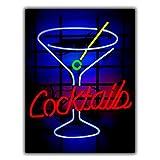 Cartel metálico con luz de neón para decoración de cocina, bar, pub, espacio de hombres. Cartel artístico de aluminio, 20,3 cm x 30,5 cm