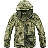 Reebow Gear Taktische Jacke mit Reißverschluss, aus Fleece, Herren, JKV4, Green ATACS Camo, xl