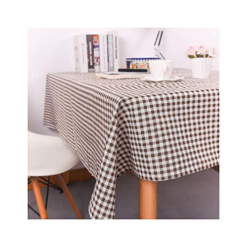 Pastoral Tablecloths Linen Printed Rectangular Table Cover Lace Edge Tablecloth,Outdoor Decoration 12,140180Cm