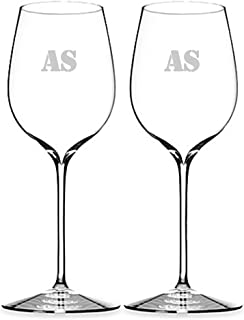 Waterford Elegance Pinot Noir Set of 2 Personalized Wine Glasses, Engraved Wine Glass, Custom Wine Glasses