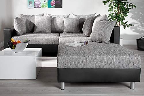 Ecksofa Couch –  günstig Design mit Hocker LOFT Bild 6*