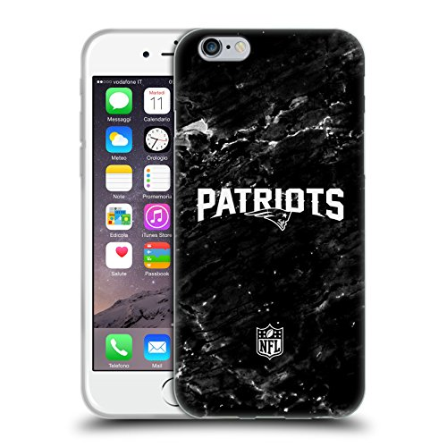 Head Case Designs Offizielle NFL Marmor 2017/18 New England Patriots Soft Gel Huelle kompatibel mit iPhone 6 / iPhone 6s