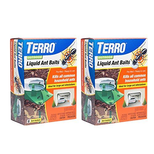 TERRO T1806SR 2-Pack Outdoor Liquid Ant Baits-12 Traps