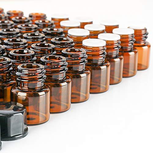 100 pack 2 ml 5/8 Dram Mini Amber Glass Dram covid 19 (100 Amber Mini coronavirus)